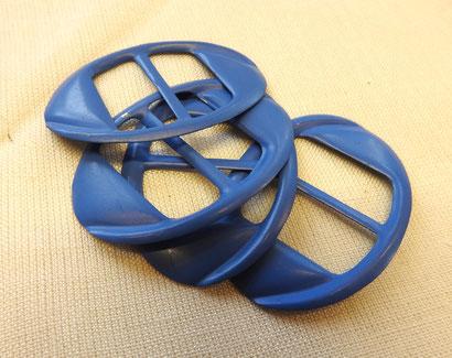 Schnalle Metall in blau
