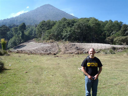 That's me looking rough and the volcano behind I was hoping to climb