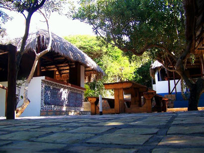 The restaurant at Nhanombe Lodge, Zavora. Dante Harker