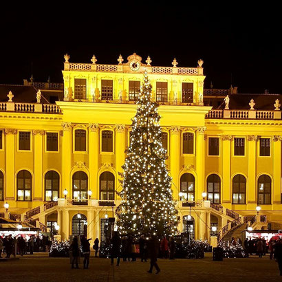 Schoenbrunn palace in Vienna - great Xmas markets, more info at danteharker.com