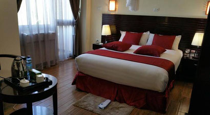Spacious luxury rooms at the Delano Hotel, Bahar Dar, Ethiopia. Dante Harker