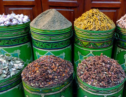 Spices galore in the Marrakesh souks