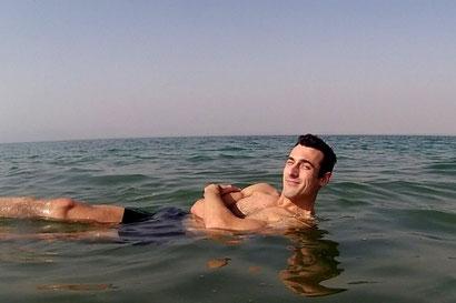 Obligatory floating in the dead sea image. Dante Harker