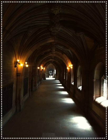 Gothic architecture at John Rylands Library, Manchester