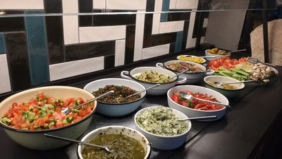 Just one section of the amazing Israeli breakfast at the Prima City Hotel, Tel Aviv, Israel.