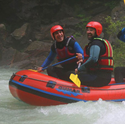 Rafting with Betty and the Sport Mix team , Bivec, Slovenia