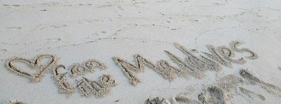 White sand beaches galore in the Maldives. Dante Harker