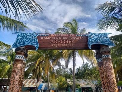 The cultural village on Arborek Island, Raja Ampat