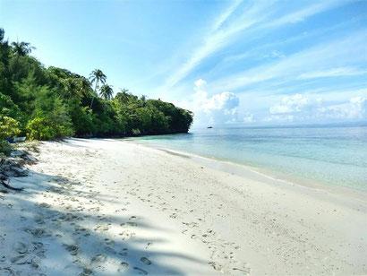 Beach on Pulau Mansuar, Raja Ampat Indonesia
