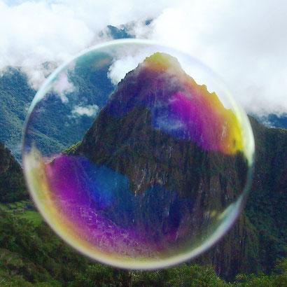 Machu Picchu through a bubble - how to visit Machu Picchu on a tight budget