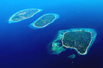 The three Gili Islands - Dante Harker