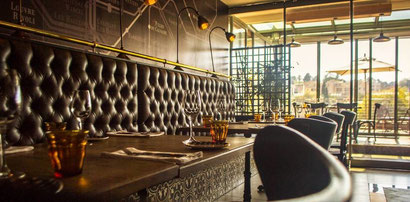 The relaxed yet refined interiors at Bistro Michel in Melrose North, Johannesburg. Dante Harker