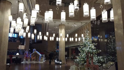 The gorgeous Intercontinental Semiramis, Cairo decked out in holiday cheer.