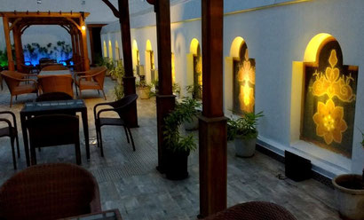 The gorgeous rooftop at the Fragrant Nature Kochi. Dante Harker