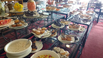 The impressive buffet breakfast at the Regency Palace Amman, Jordan.