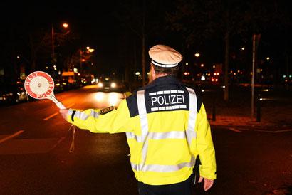 Kontrolle letzte Woche in Mannheim