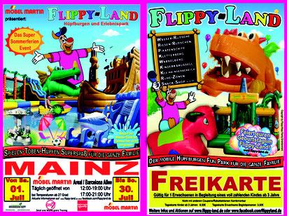 #flippyland #hüpfburgenland #Mainz #Ferien #Wasserrutsche #Freikarte