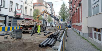 Image Travaux Rue du Page - (c) Le Guellec - www.dhnet.be
