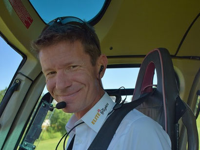 Elite Flights, Daniel Spörli,  Berufshelikopterpilot CPL ( H),  Fluginstruktor FI (H) i.A.