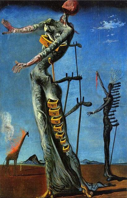 The Burning Giraffe by Salvador Dali