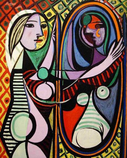 Девушка перед зеркалом  - Пабло Пикассо