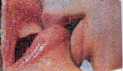 """Новая работа от автора фотомозаики """"Мир рождается в кажом поцелуе"""""""