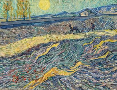 Вспаханное поле и пахарь - Винсент Ван Гог