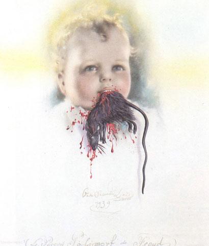 Болгарский ребенок, пожирающий крысу - Сальвадор Дали (1939)
