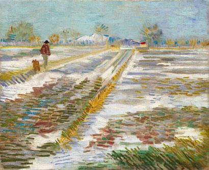 Снежный пейзаж - Винсент Ван Гог