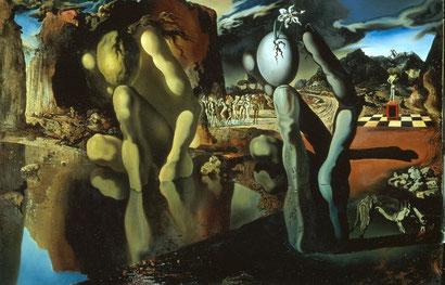 """Сальвадор Дали - описание картины """"Метаморфозы Нарцисса"""""""