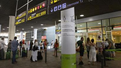 Барселона, аэропорт Эль Прат - новые коронавирусные правила.