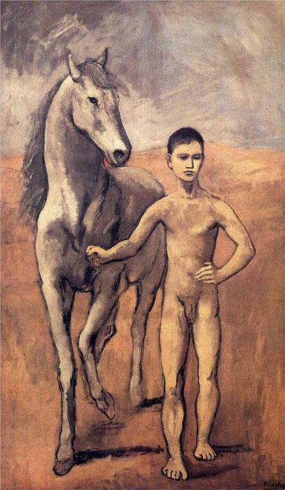 Мальчик, ведущий лошадь - Пабло Пикассо