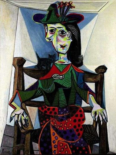 Дора Маар с кошкой - Пабло Пикассо
