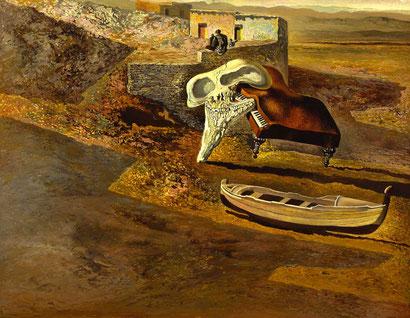 Атмосферный череп, содимирующий рояль