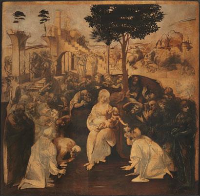 Поклонение волхвов - Леонардо да Винчи
