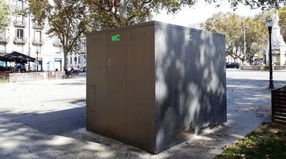 Интерактивная карта общественных туалетов Барселоны