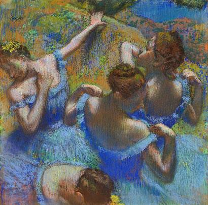 Голубые танцовщицы - Эдгар Дега