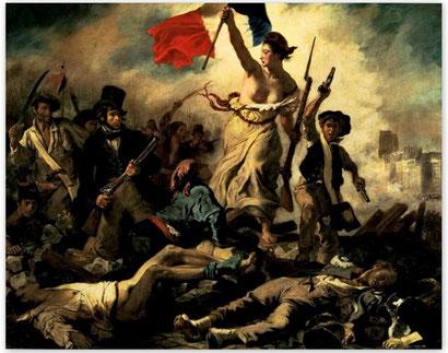 Свобода, ведущая народ -Эжен Делакруа
