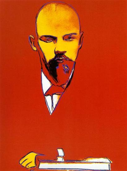 Красный Ленин - Энди Уорхол (1987)