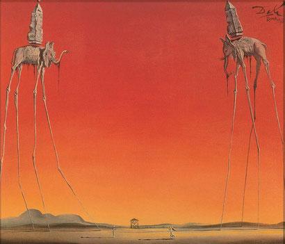 Elephants, 1948 by Salvador Dali