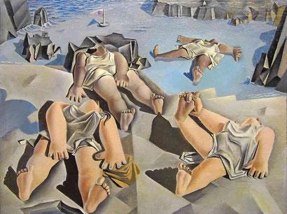Фигуры, лежащие на песке  - Сальвадор Дали (1926)