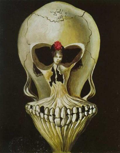 Балерина в голове смерти - Сальвадор Дали