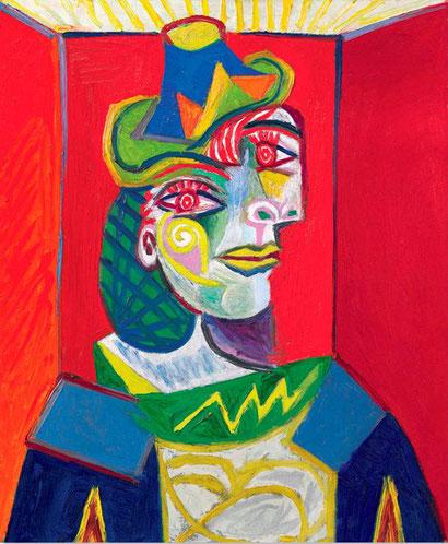 Бюст женщины - женщина в сеточке для волос - Пабо Пикассо