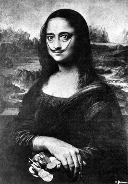 Автопортрет в образе Моны Лизы - Сальвадор Дали (1954).