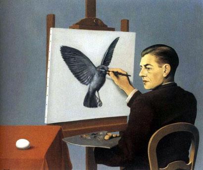Ясновидение - картина Рене Магритта