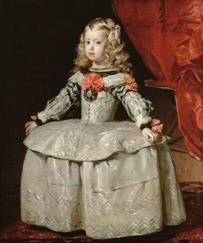 Портрет инфанты Маргариты в белом платье - Веласкес