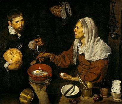 Старуха, жарящая яйца - Диего Веласкес