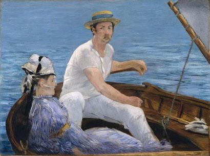 В лодке - Эдуард Мане