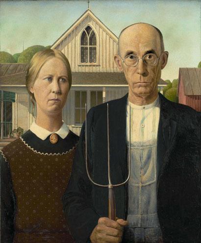 Американская готика - самая знаменитая картина США