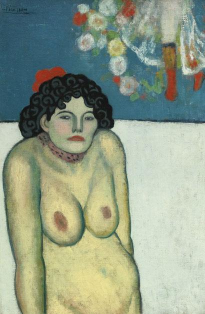 Певица кабаре (1901) - Пабло Пикассо